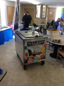 C Nelson BDC8, pushcart for dipping ice cream and selling ice cream treats, For special events and festivals.