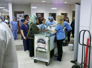 Cliff's catering at an area Hospital employee event.
