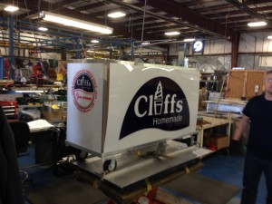 Cliff's cart almost ready