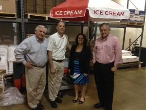 Friends at Whitey's Ice Cream & Yogurt, Jon Turnberg, Scott Larson, Dana Samsel (w/AAT SALES), and Jeff Turnberg