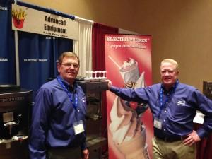 Tom Treptow & Don Acker with Advanced Equipment Co. (Electro Freeze Ice Cream Freezer Distributor) NE Ohio